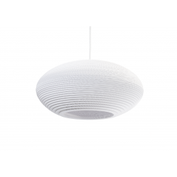 Graypants White Disc 20 Pendant Light