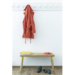 Ubikubi Marco Beech and Yellow Metal Dining Bench