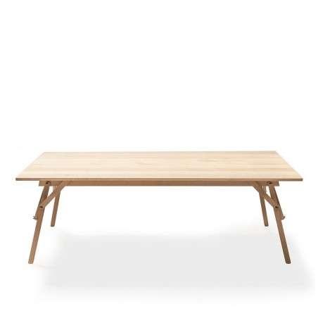 Ubikubi's Atelier Dining Table in Varnished Matte Oak