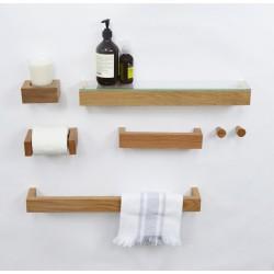 Wireworks Solid Oak Hand Towel Rail 28cm