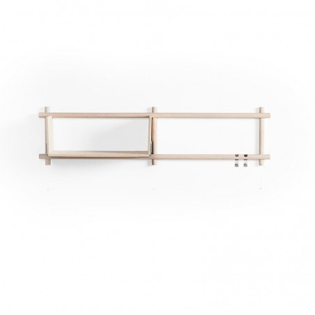 Emko Foldin Shelving Unit - Two Horizontal Holes, One Shelf