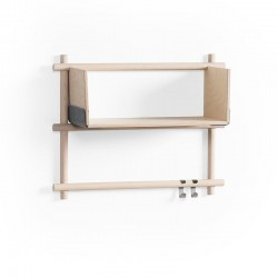 Emko Foldin Shelving Unit - Two Vertical Holes, One Shelf