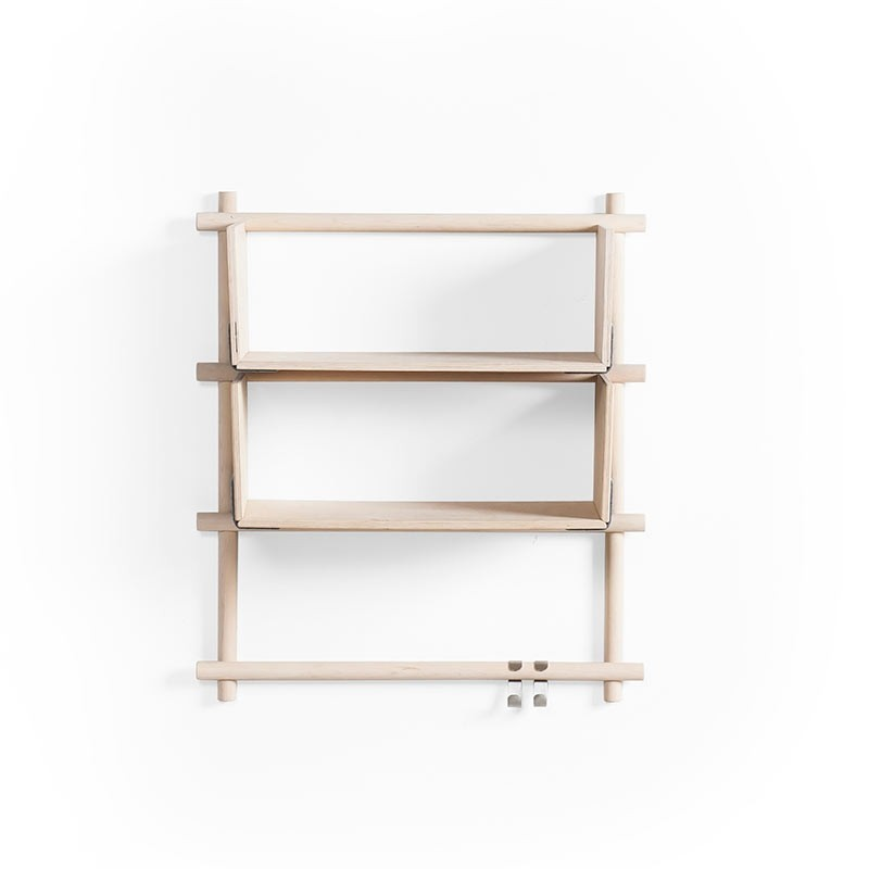 Emko Foldin Shelving Unit - Three Holes, Two Shelfs