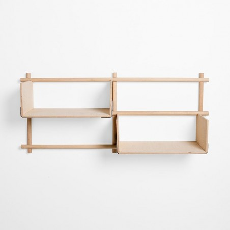 Emko Foldin Shelving Unit - Four Holes, Two Shelfs