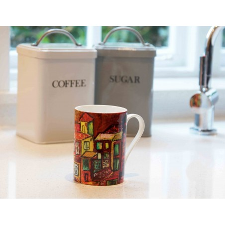Art Mug Tuscany Red by Natasha Jade