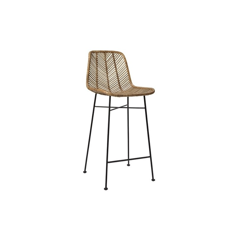 Bloomingville Indus Bar Stools in natural Rattan