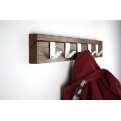 45 Walnut Coat Rail
