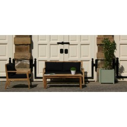 Kew Outdoor Teak Armchair with Cushions