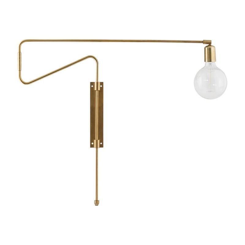 House Doctor Swing Wall Lamp in Brass