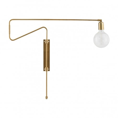 House Doctor Swing Wall Lamp in Brass
