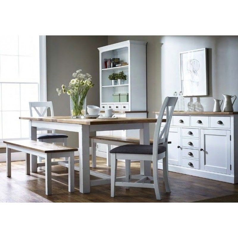 Beziers Painted Extending Trestle Dining Table