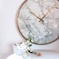 Cloudnola Structure Marble Wall Clock