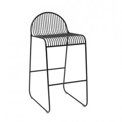 Bloomingville Friend Bar Chair in Black Metal