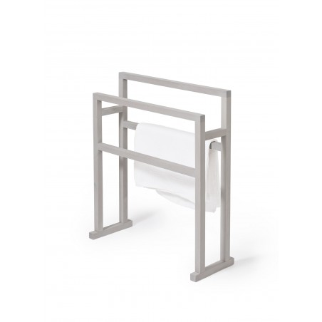 Wireworks Contemporary Oyster Finish Towel Rail Mezza Grande