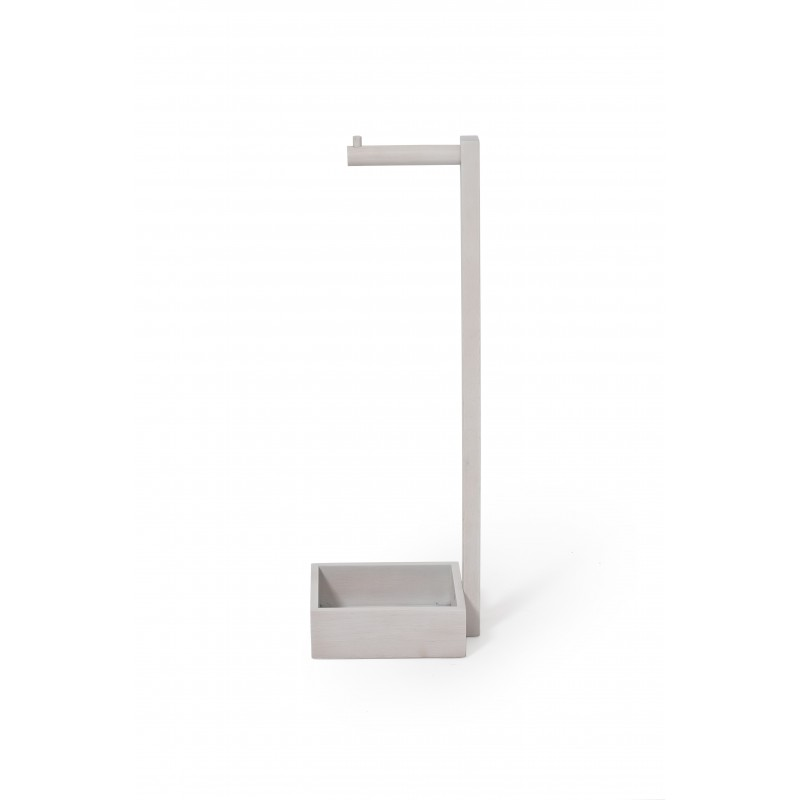 Wireworks Contemporary Oyster Finish Mezza Freestanding Roll Holder
