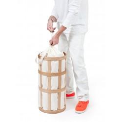 Wireworks Laundry Basket Cage Soft White