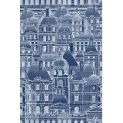 Mind the Gap Louvre Wallpaper - Blue