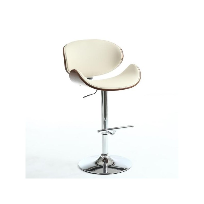Argento Walnut / Cream Bar Stool