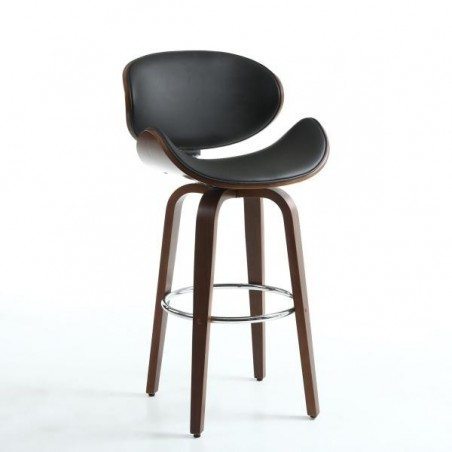 Traviata Walnut / Black Bar Stool
