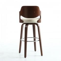 Figaro Walnut / Cream Bar Stool