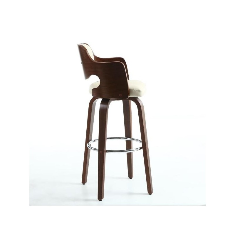 Figaro Walnut / Cream Bar Stool