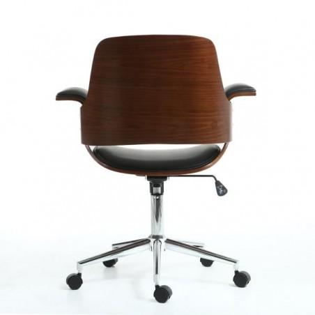 Baraldi Walnut / Black Office Chair