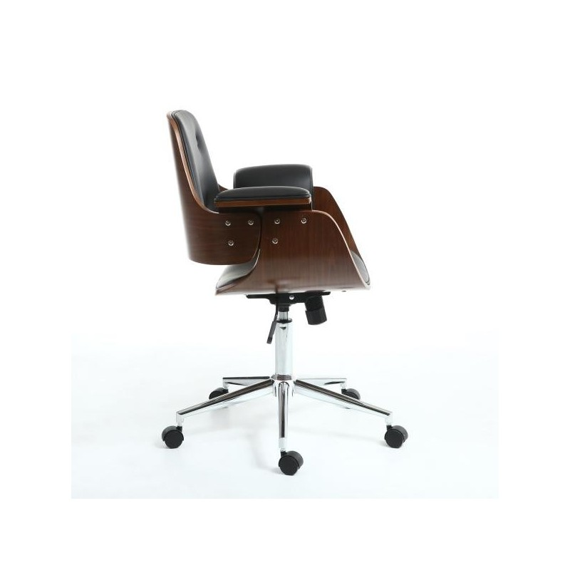 Baraldi Walnut / Black Office Chair