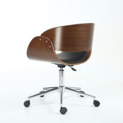 Fidelio Walnut / Black Office Chair