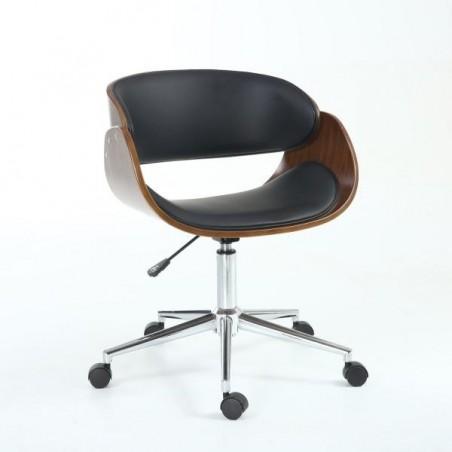 Fidelio Walnut / Black Office Chair
