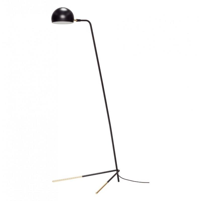 Hubsch Black and Brass Floor Lamp