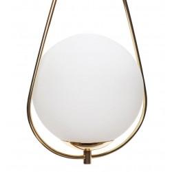 Hubsch Glass Ball and Brass Sling Pendant Lamp