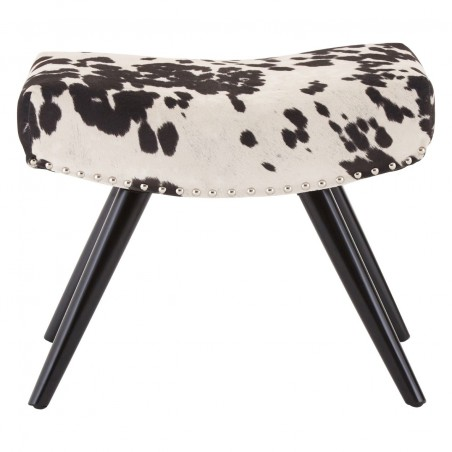Black and White Cowboy Footstool