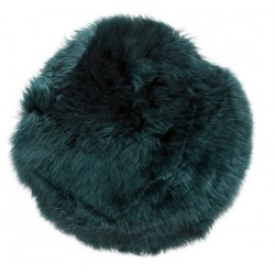 Hubsch Green Longhaired Sheepskin Cushion
