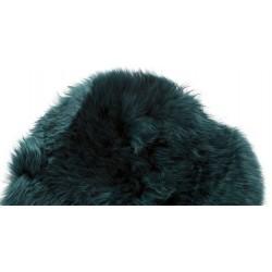 Hubsch Green Longhaired Sheepskin Cushion