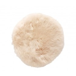 Hubsch Natural White Longhaired Sheepskin Cushion