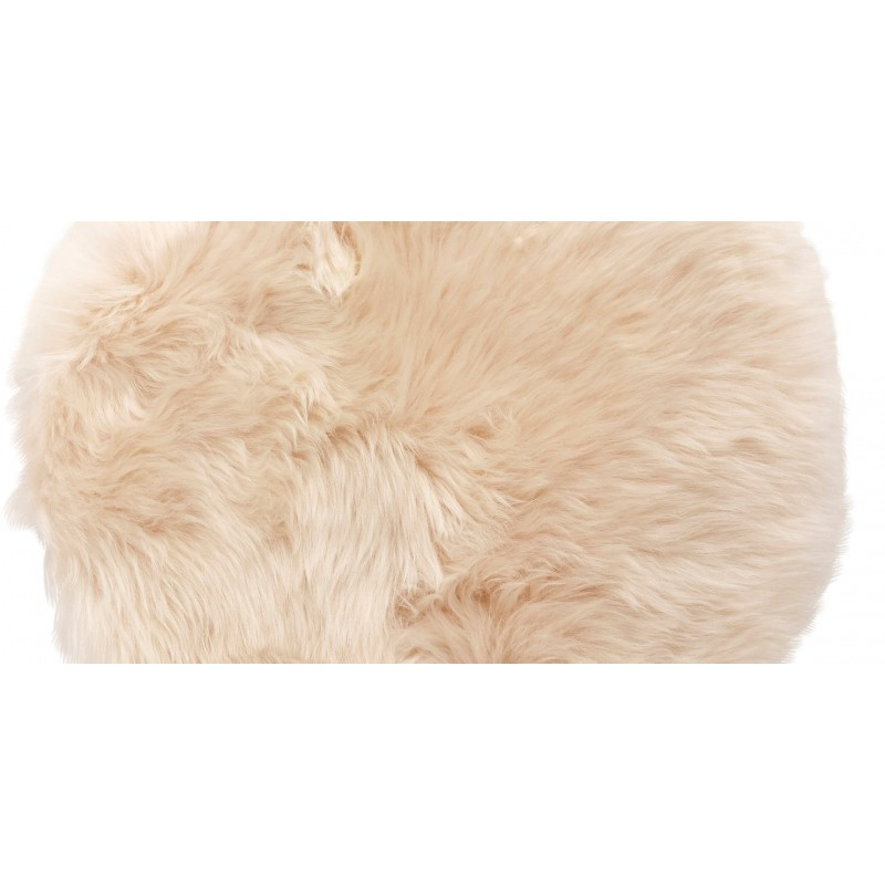 Hubsch Natural White Longhaired Sheepskin Seat Cushion