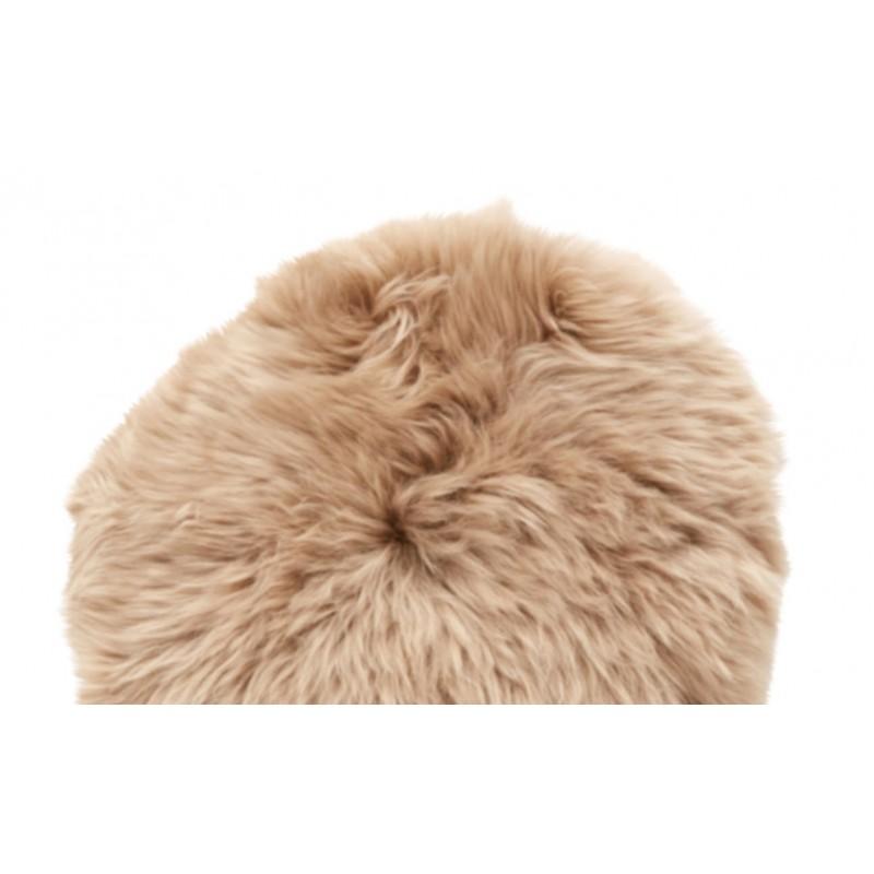 Hubsch Light Brown Longhaired Sheepskin Cushion