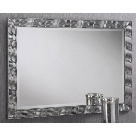 Karadi Silver Rectangular Wall Mirror - 4 Sizes