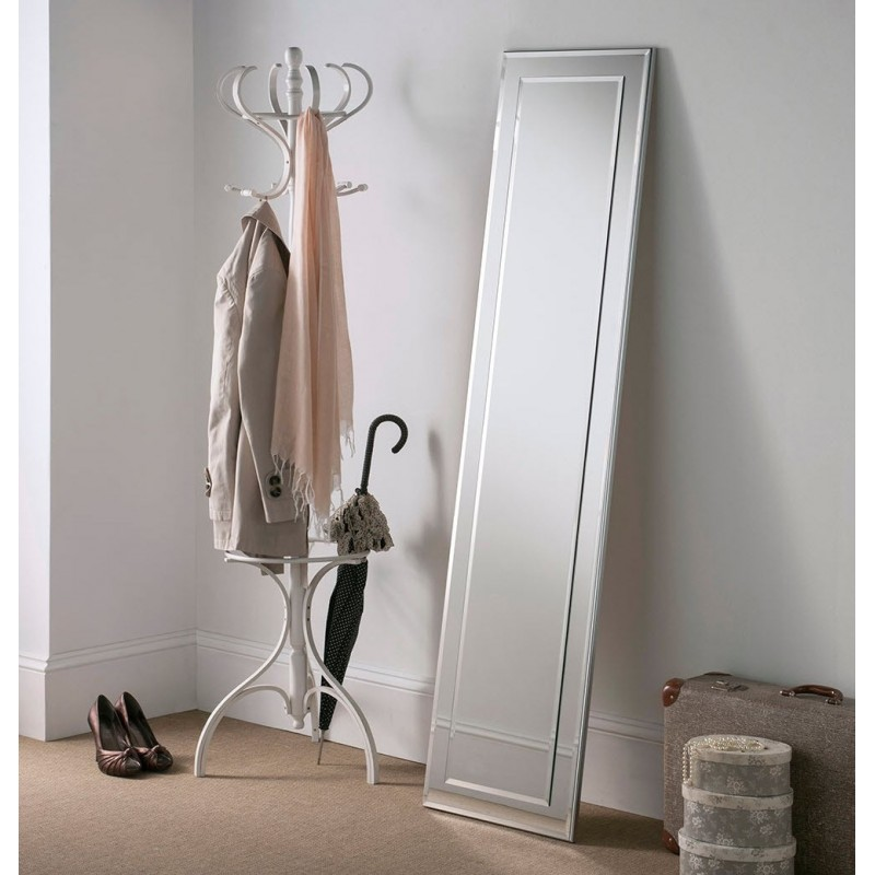 Lalique Leaner Silver Floor Mirror