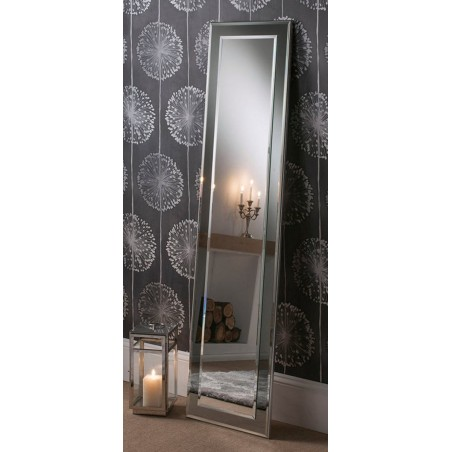Lalique Leaner Grey Floor Mirror