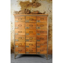 Industrial Apothecary Chest - 18 Drawers
