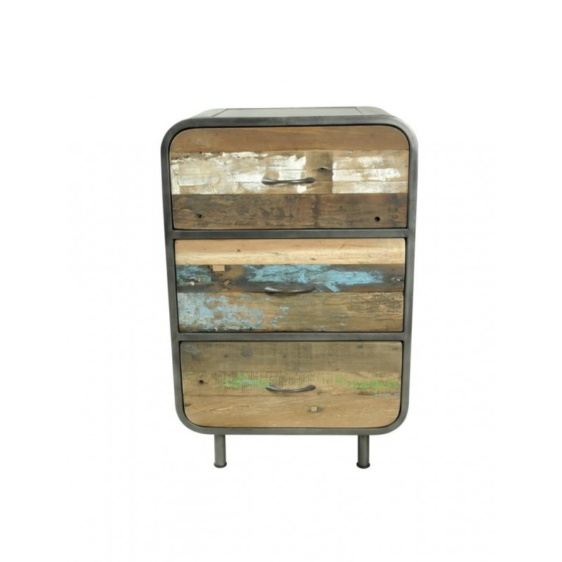 Flotsam Retro High Dresser 3 Drawers