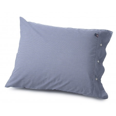 Lexington Seaside Navy and White Check Pillowcase
