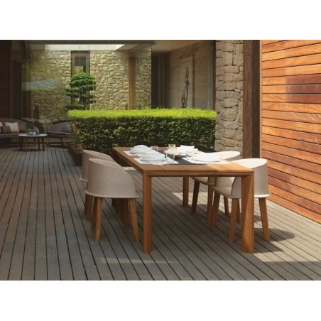Talenti Cleo Teak Iroko Table