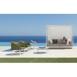 Talenti Cleo Alu Canopy 3 Seater Garden Sofa