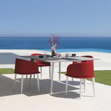 Talenti Cleo Alu Square Garden Table With Cement Fiber Top