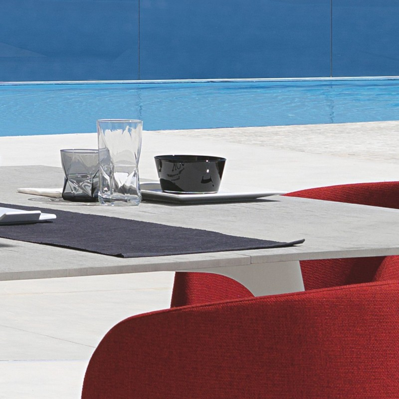Talenti Cleo Alu Square Garden Table With Cement Fiber Top