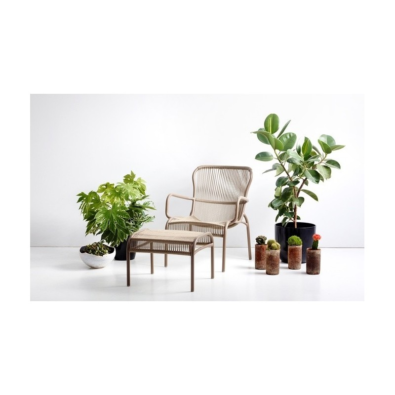 Vincent Sheppard Loop Outdoor Lounge Chair Taupe