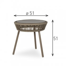 Vincent Sheppard Loop Side Table Taupe