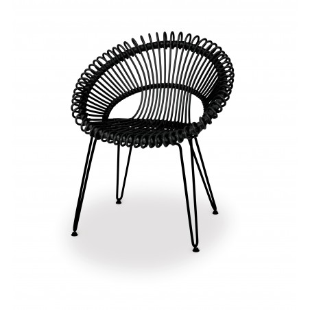 Vincent Sheppard Roxy Garden Dining Chair - Black